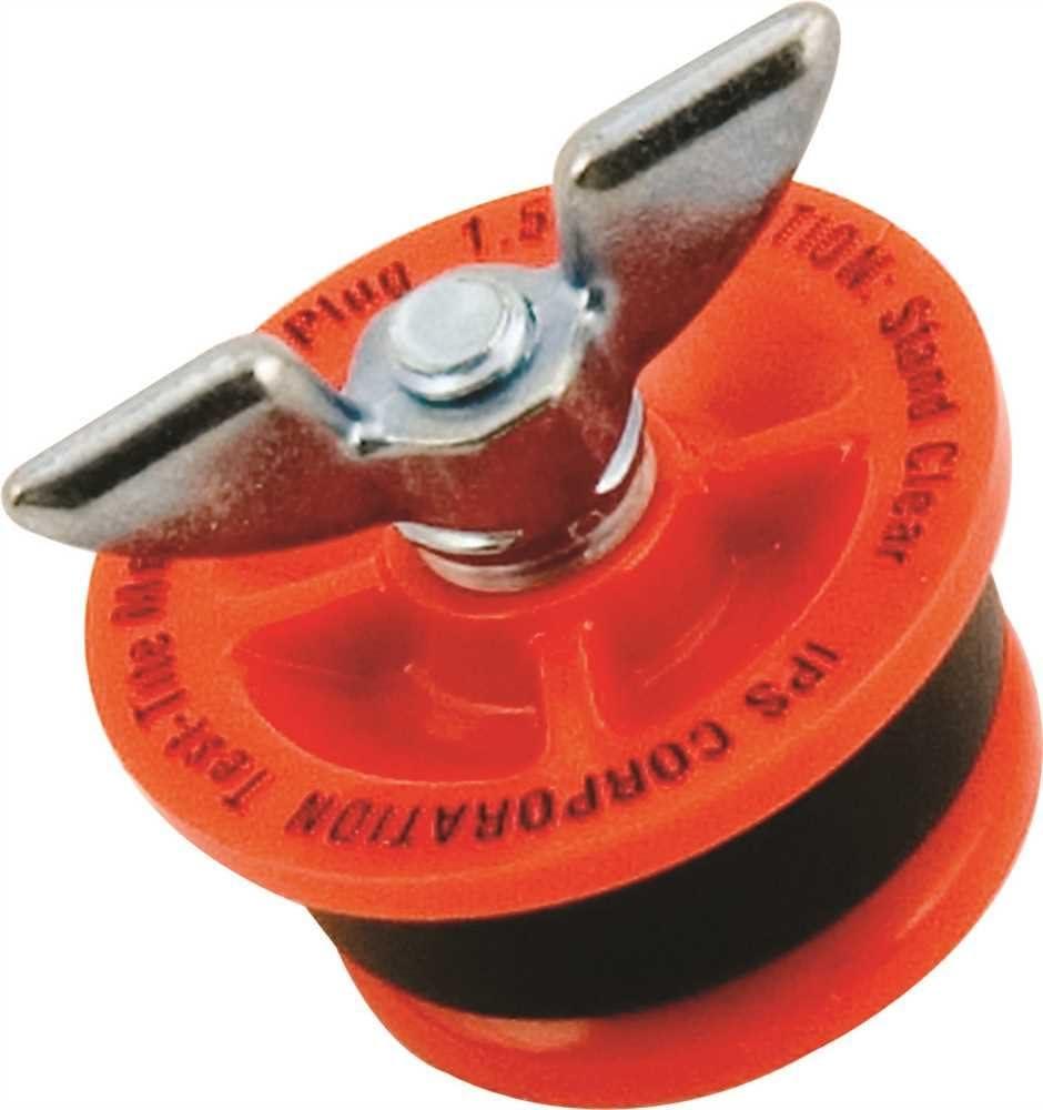 2 IPS CORPORATION 83592 Twist-Tite Mechanical Test Plug