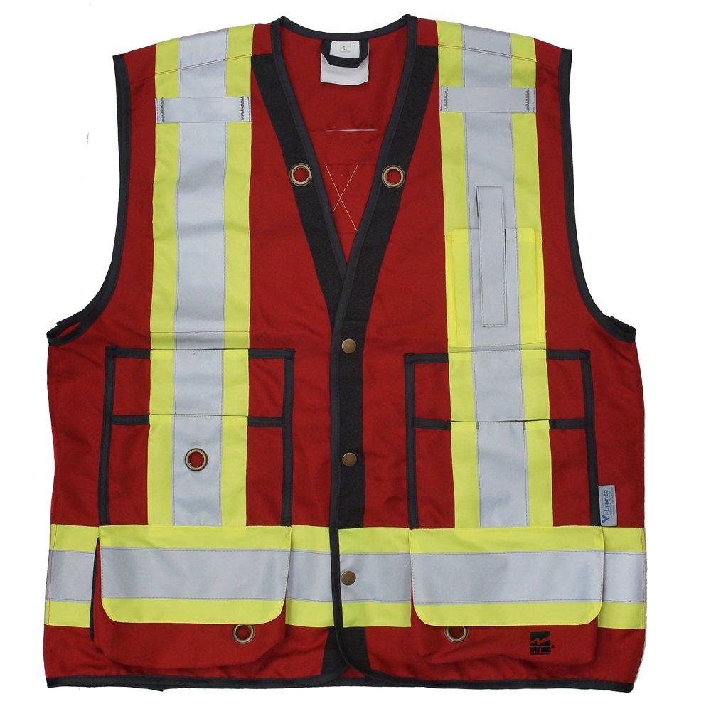 Viking Men's Open Road Surveyor Safety Vest Red,  Red,  XL