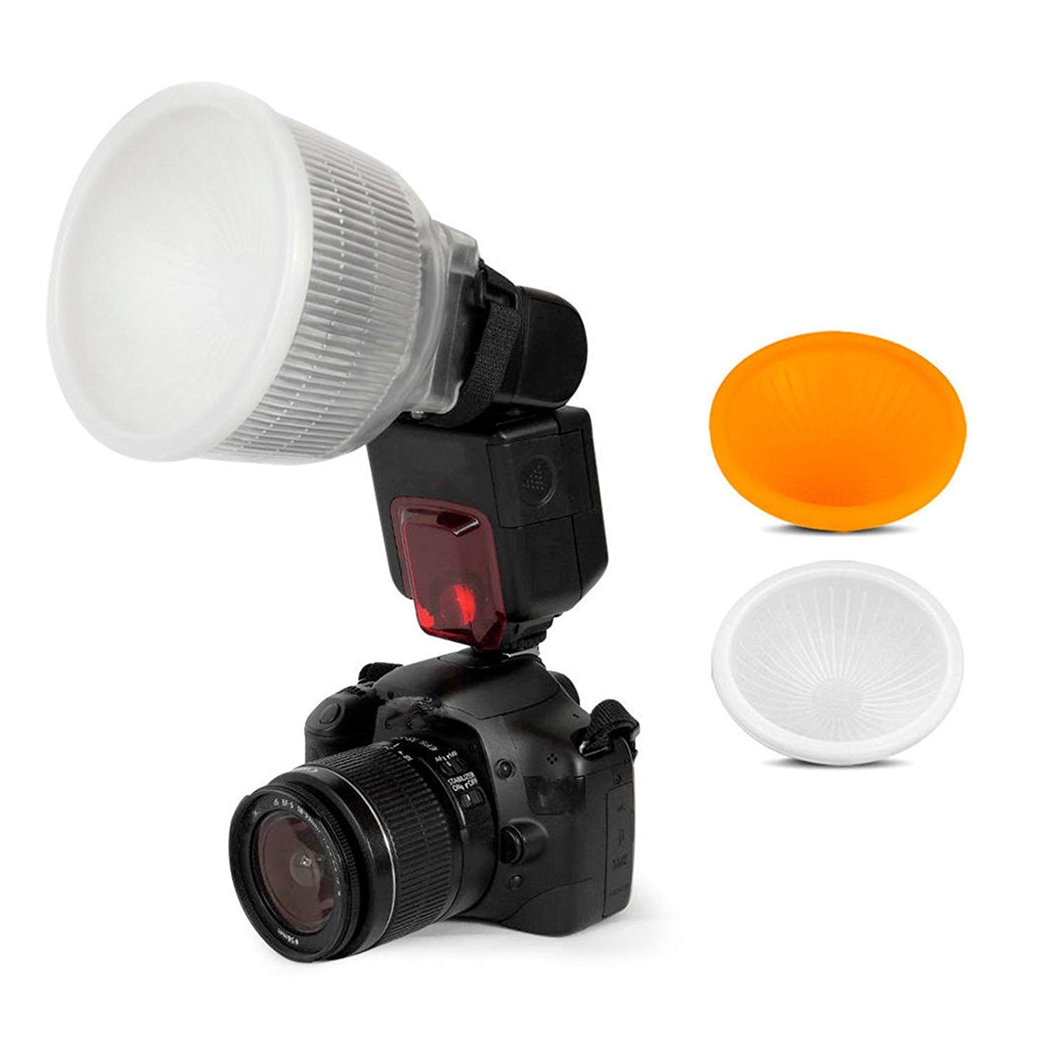 SHOOT Lambancy Dome Flash Diffuser for Canon 420EX 430EX 550EX 580EX 580EX II 600EX Nikon SB600 SB700 SB800 SB900 SB910 Sony HVL-F42AM HVL-F43AM