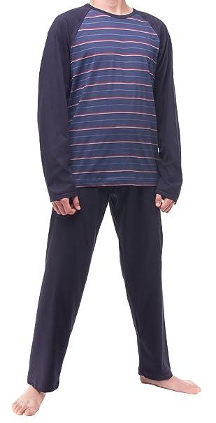 Cornette Pijamas Conjuntos Ropa para Hombre CR-132 (Azul Oscuro, XL)