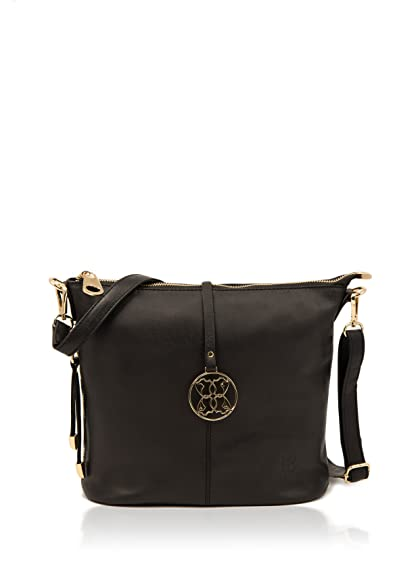 d21b02429f5b Ladies Soft Real Leather Cartmel Across Body Bag in Classic Black womens top  selling crossbody bag  Amazon.co.uk  Shoes   Bags