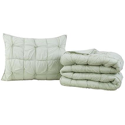 9a346a2f6c26 Amazon.com: VHC Brands Camille Mint Twin Set; Quilt 86x68-1 Sham ...