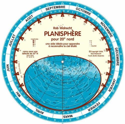 Planisphere Pour 20 Degres Nord (French): Une Aide Ideale Pour Appendre a Reconnaitre Le Ciel Etoile (French Edition) ebook