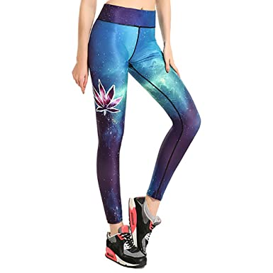 Honghu Mujer Sports Pantalones Elásticos de Yoga Chica ...