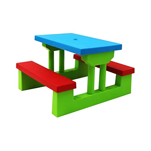 Oypla Kids Childrens Picnic Bench Table Set Outdoor Garden Furniture ...