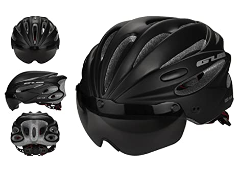 helmett High Density Eps Goggle+Brim Multifunctio Cycling Bicycle Helmet Mtb Bike Sports Mountain Brim