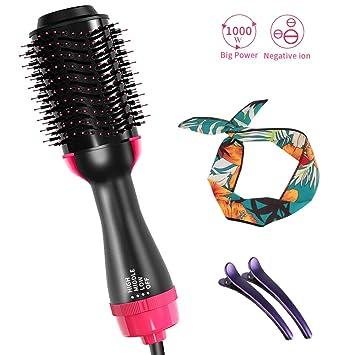 Amazon.com: Cepillo de aire caliente, secador de pelo y ...