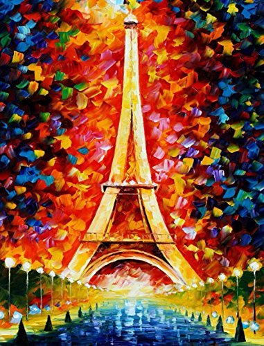 (Eiffel Tower) - Ingooood- Painting Series- Eiffel Tower Paris by Leonid Afremov Jigsaw Puzzles in a puzzle 1000 pieces for adult
