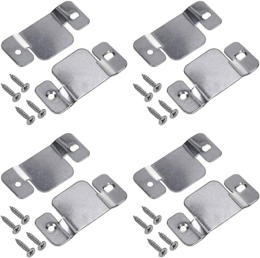 Hoowen Universal Metal Sectional Sofa Interlocking Furniture Connector Fastener Bracket with Screws, Pack of 8
