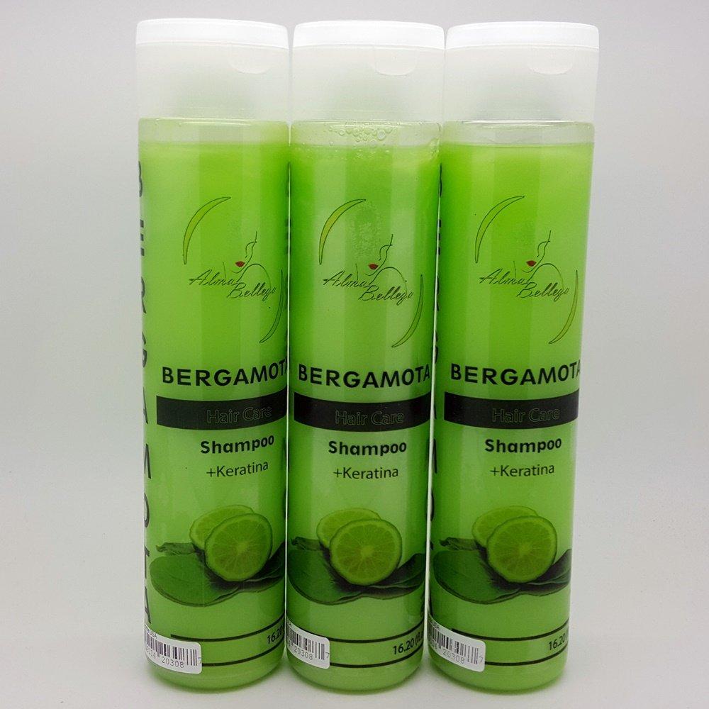 3 Pack Bergamota + Keratin Shampoo 16.20 Fl oz each by Alma Belleza (Image #1)