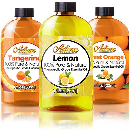 Citrus Essential Oils Set - 1oz 3 Pack Set (100% PURE ESSENTIAL OIL) Sweet Orange, Lemon, and Tangerine