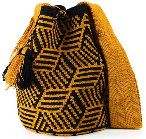 Wayuu Mochila Bags Crochet Woven Handmade Authentic Colombian Boho Bags Colorful