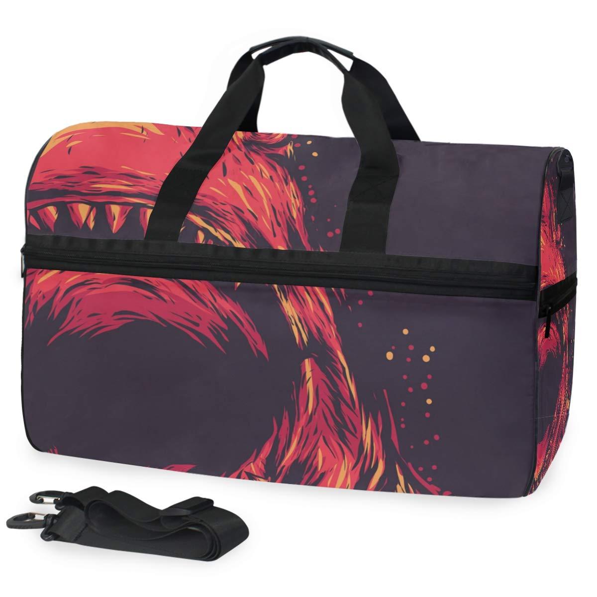 Vacation Travel Duffel Bag Shark Wild Animals Waterproof Lightweight Luggage bag for Sports Gym