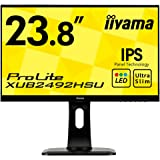 iiyama ディスプレイ モニター XUB2492HSU-B1 23.8インチ/フルHD/昇降スタンド/スリムベゼル/DisplayPortx1/HDMIx1/D-subx1
