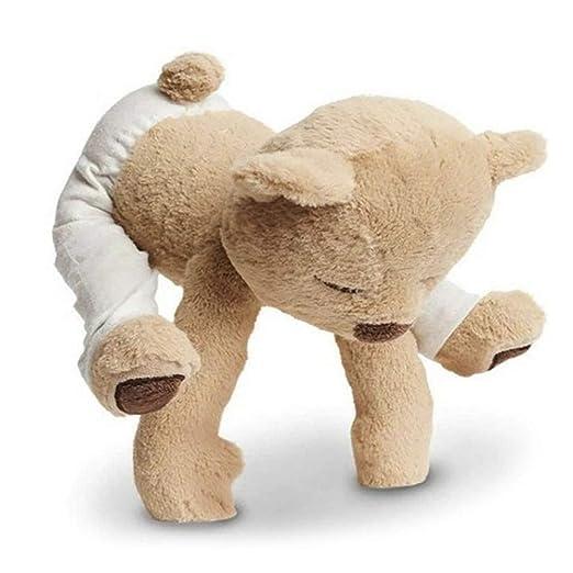 JYCRA Oso de peluche de peluche, flexible, extraíble, oso de yoga, muñeca de animal para niños y bebés, regalos de cumpleaños