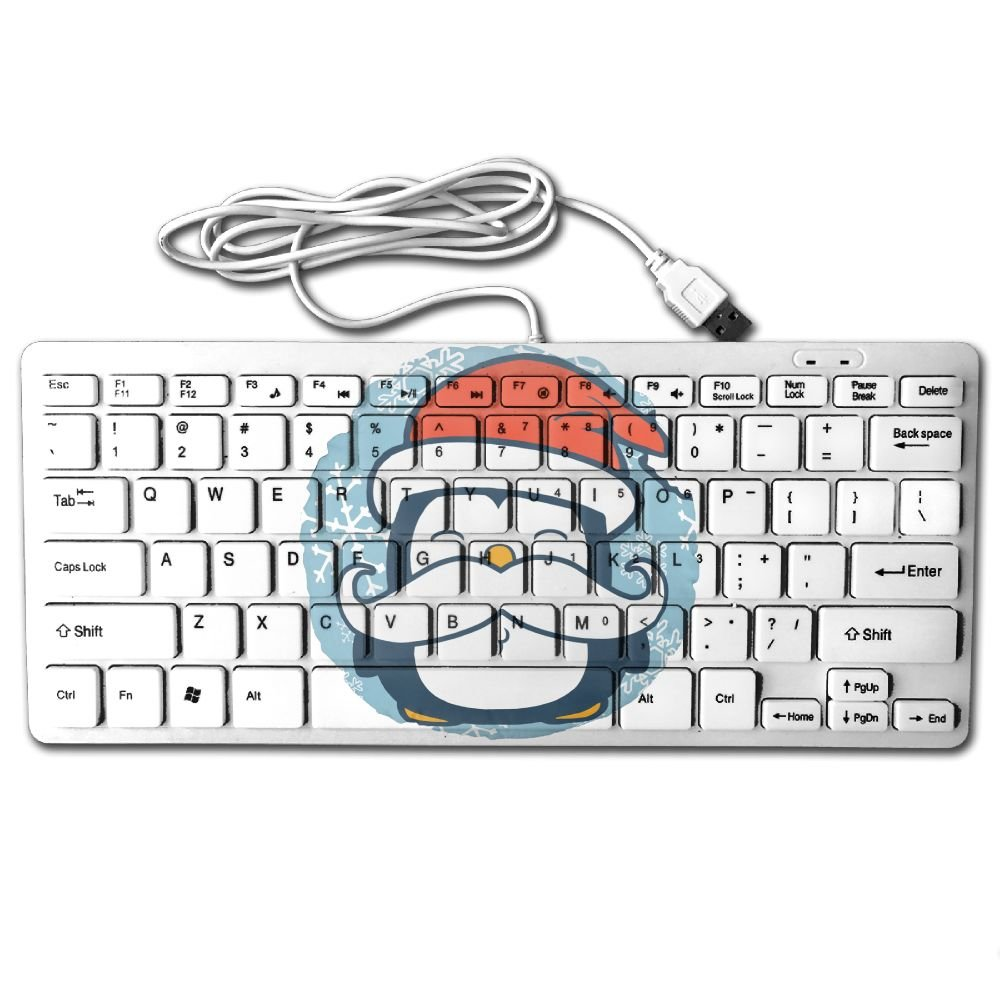 Mustache Penguin 78 Keys Wired USB Mini Slim Keyboard for Pc