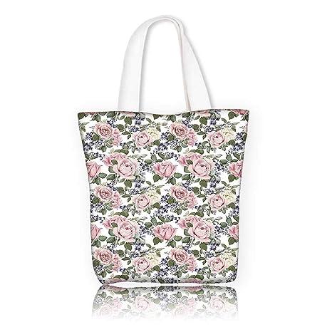 0d6b4100e Amazon.com: Canvas Tote Bags -W16.5 x H14 x D7 INCH/Reusable Canvas ...