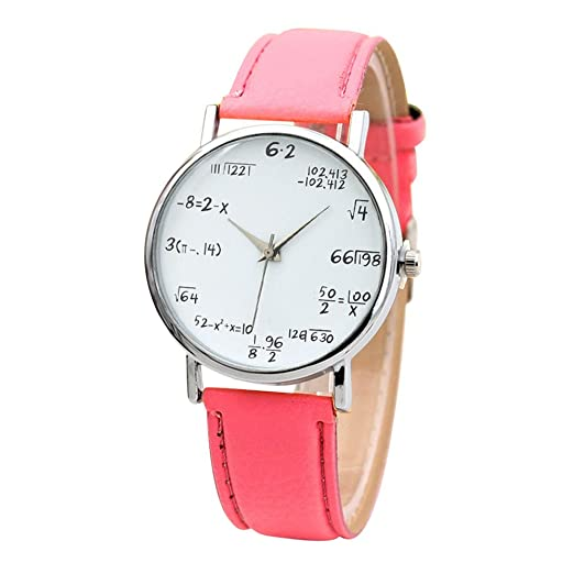 1292f370a1a Image Unavailable. Image not available for. Color  Women Quartz Watches  VANSOON Unisex Mathematical Equation Watch Without Scale Belt Ladies Watch  Wrist ...