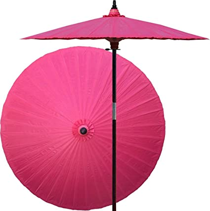 Amazon Com Oriental Decor 7 Foot Tall Hand Painted Patio Umbrella