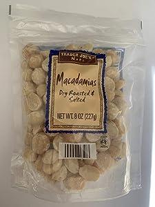 Trader Joe's Macadamias (Dry Roasted and Salted), 10 oz (284g) Bag