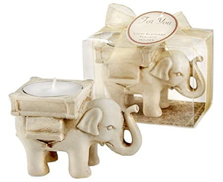 Psfy Home Lucky Elephant Tea Light Candle Holder Candlestick Wedding