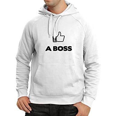 Hoodie Like a Boss Funny Best Gift Ideas, Parody Design Unique Gag ...