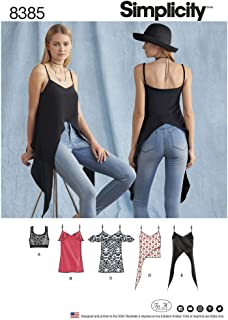 product image for Simplicity Sewing Pattern D0663 / 8385 - Misses' Tops and Knit Bralette, D5 (4-6-8-10-12)