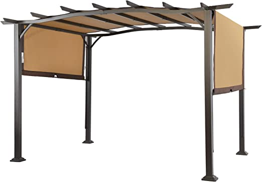 LCH - Toldo retráctil para jardín o patio, marco de acero al aire libre de pérgola de 30, 48 x 22, 86 cm: Amazon.es: Jardín