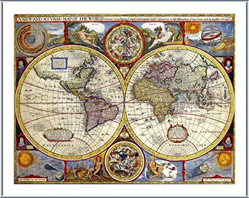 Silver Antique Map - 7