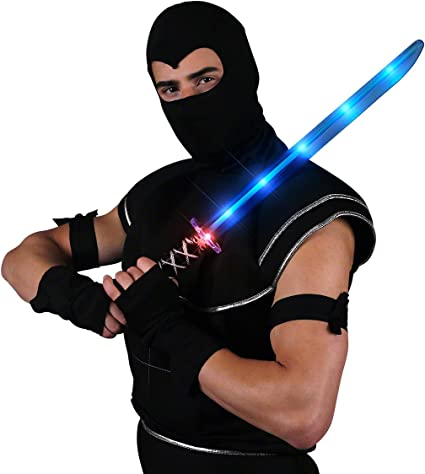 Fortnite Best Sword For Ninja Amazon Com Deluxe Ninja Led Light Up Sword With Motion Activated Clanging Sounds Toys Games