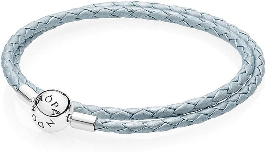Pandora 590734CBL-D Bracelet en cuir