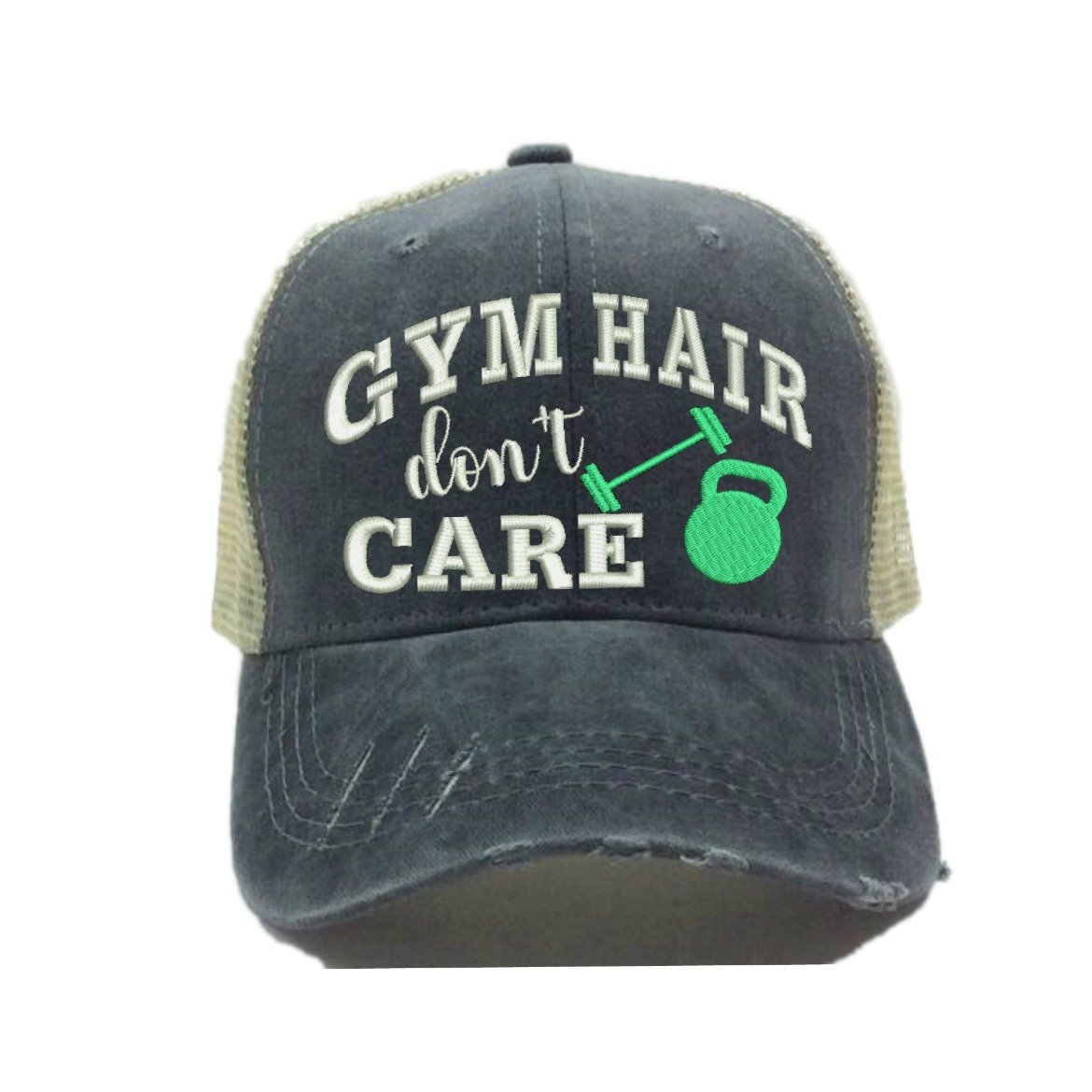 Adult Custom Distressed Trucker Hat Gym Hair Don t Care Fitness Workout Vintage  Ball Cap (Mint Green) at Amazon Women s Clothing store  5dd9a5c1629