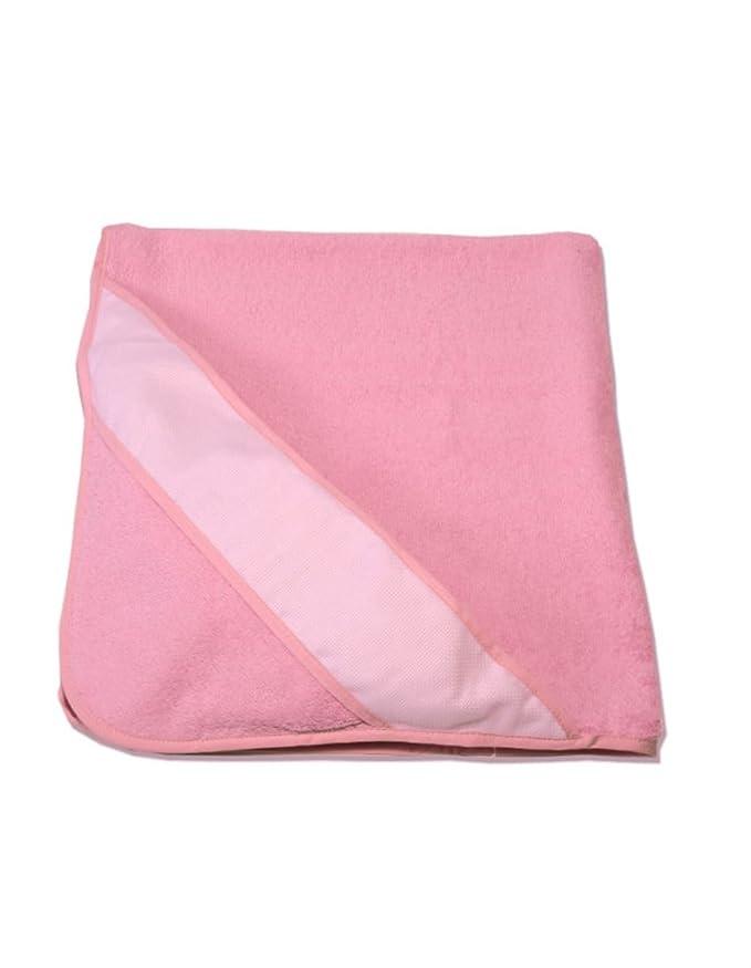 Toalla para bebés de punto de cruz, con gorrito. (rosa): Amazon.es: Bebé