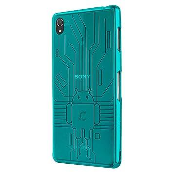 CruzerLite Z3-Circuit-Teal - Carcasa para Sony Xperia Z3, azul
