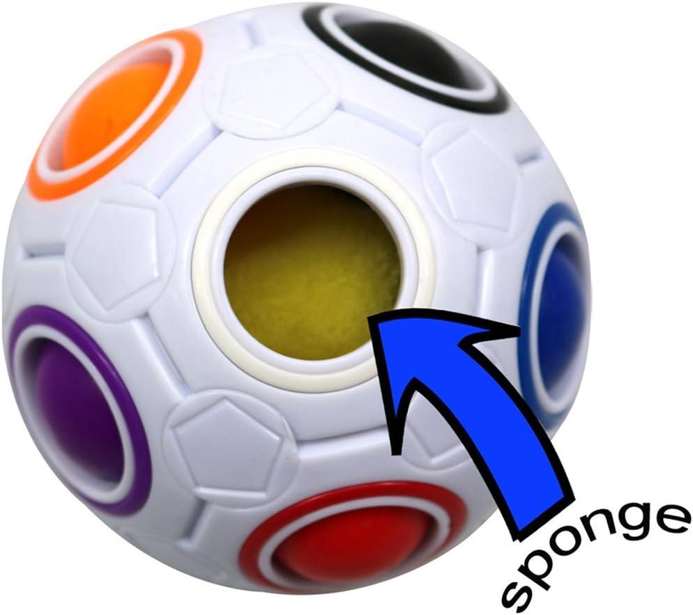 FC MXBB 2.5 inchesFidget Ball Intelligence Rainbow Magic Ball Cube 3D Puzzle Football Design Fidget Toy Blue