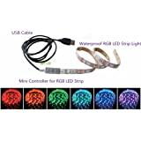 Multi-colour RGB 50cm 19.7in LED Strip Light LED TV Background Lighting Kit With USB Cable Gerneric RU50