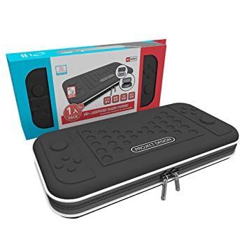 Amazon.com: Switch Caso Nintendo, Negro Deluxe Protective ...