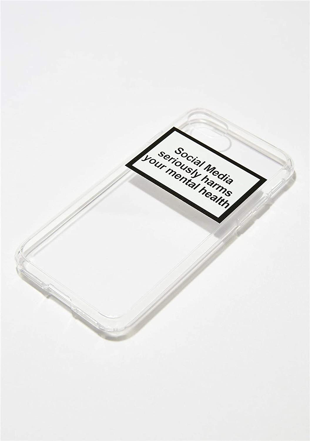 Social Media Seriously Harms Your Mental Health Phone case for iPhone X XR XS MAX 8 7 6 6s Plus Soft Silicone Back Cover Capa,190011,for iPhone 8