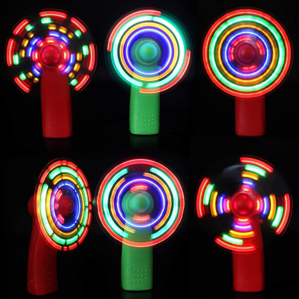 Ogquaton Fan de qualit/é sup/érieure accessoires de concert lumineux Mini ventilateur de poche /électrique 4 couleurs changeantes rouge Choses de l/ét/é