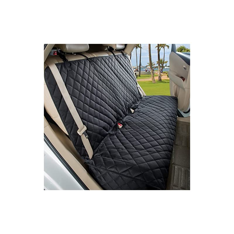 dog supplies online viewpets bench car seat cover protector - waterproof, heavy-duty and nonslip pet car seat cover for dogs with universal size fits for cars, trucks & suvs(black)