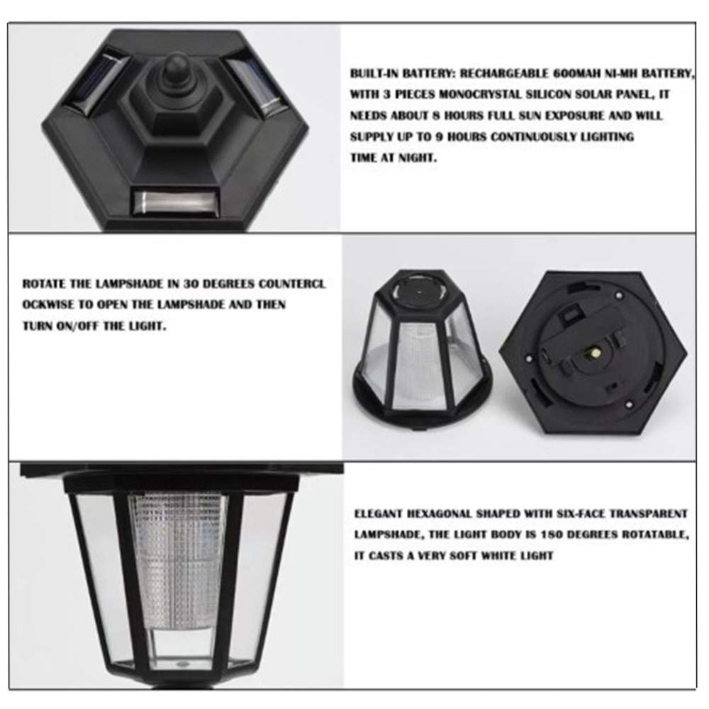 Dr.OX Solar Bicycle Light USB Rechargeable Bike Lights Front and Back LED Light Lamp 3 Function