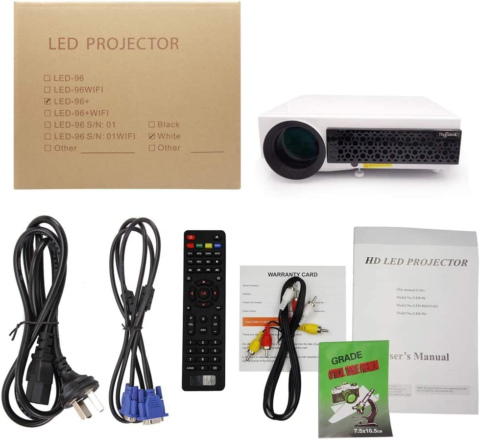 YSCCSY Proyector LED Android 6.0 WiFi Proyector Opcional Soporte ...