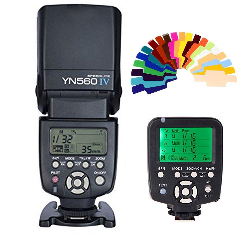 YONGNUO YN560IV Wireless Speedlite +YN560-TX Wireless Flash Controller +20 Color Filter for Canon