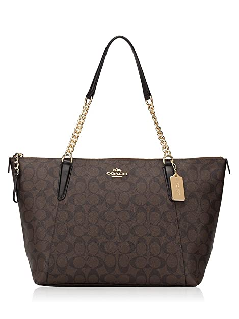 969a26f8e3cb Amazon.com  COACH AVA CHAIN TOTE WITH HALFTONE FLORAL PRINT BLACK WINE   Shoes
