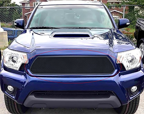 APS Fits 2012-2015 Toyota Tacoma Upper Stainless Steel Black Mesh Grille #T76971H
