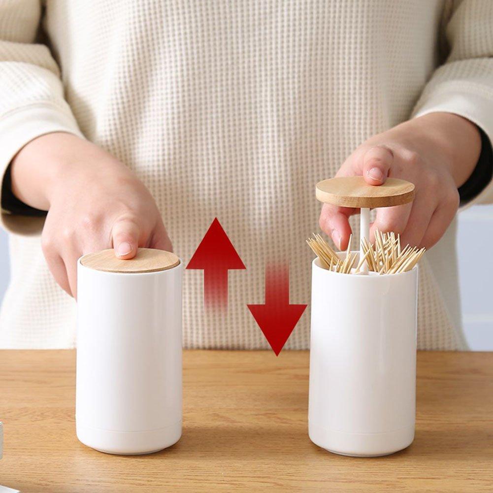 Pop-up Batuffolo di Cotone Tamponi Stuzzicadenti Dispenser Holder Caso Q-tips