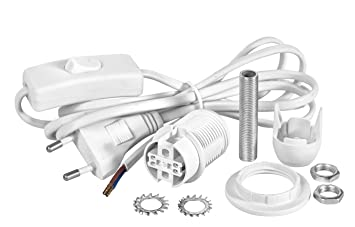 Vbs Lampenfassung E14 Weiss Mit Schalter Und Kabel 1 7m A Bis E