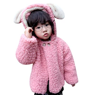 Baby Infant Girls Boys Winter Rabbit Hooded Coat Cloak Jacket Thick Warm Clothes