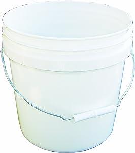Encore Plastics 20256 Industrial Plastic Pail White with Handle, 2-Gallon
