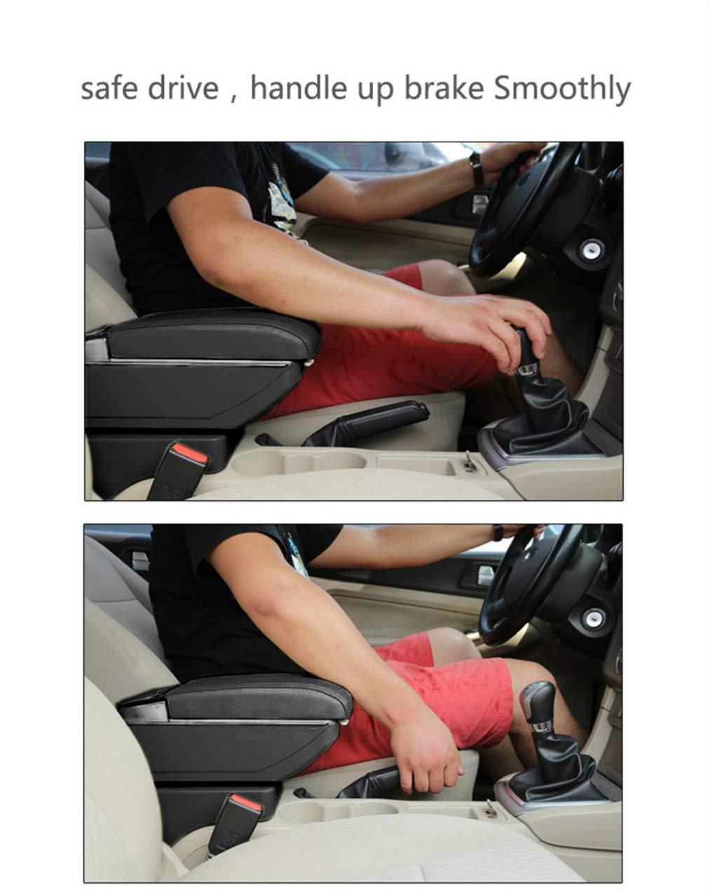 for Mitsubishi Attrage Mirage 2015-2018 Car Armrest Accessories Centre Console Storage Box Arm Rest Black